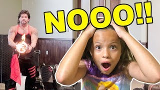KIDS AMAZING MAGIC SHOW?!? (funny)  😱 BUNNY ON FIRE 🐰🔥