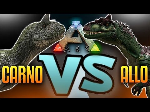 Ark Dino Battles -  ALLO VS CARNO  (Ark Survival Evolved Gameplay Allosaurus VS Carnotaurus)