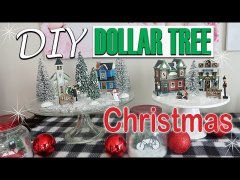 🎄DIY DOLLAR TREE CHRISTMAS DECOR 2018 - CHRISTMAS MINIATURE VILLAGE