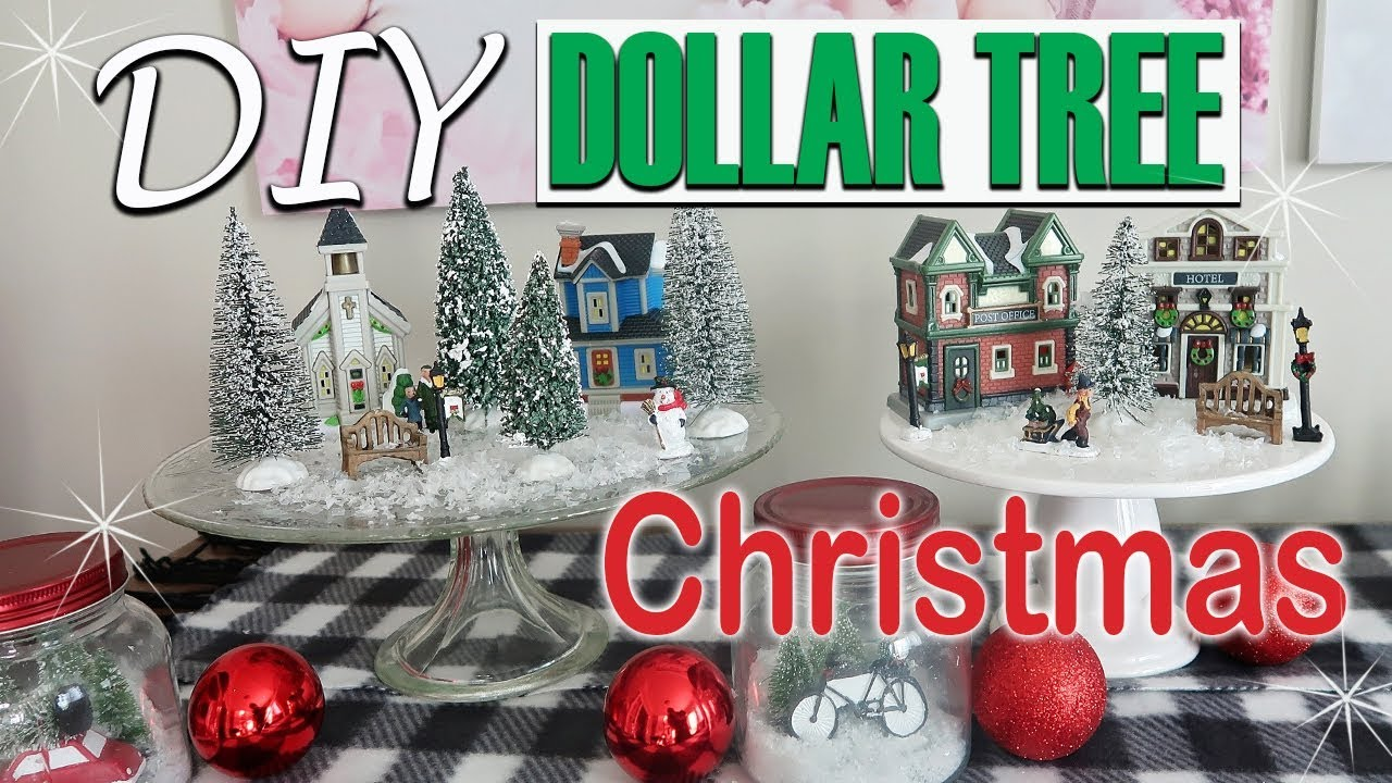 Dollar Tree Christmas Village 2020 🎄DIY DOLLAR TREE CHRISTMAS DECOR 2018   CHRISTMAS MINIATURE