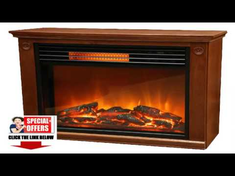 w burnished infrared oak shopping room deals large fireplace finish remote in quartz lifesmart