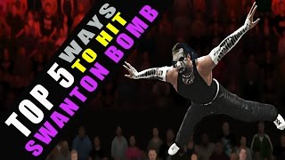 WWE 2K16 - TOP 5 Ways to Hit Swanton Bomb!!