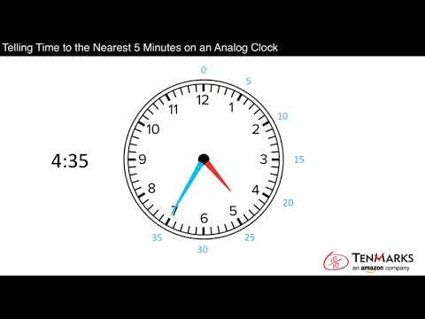 Telling Time to the Nearest 5 Minutes on an Analog Clock