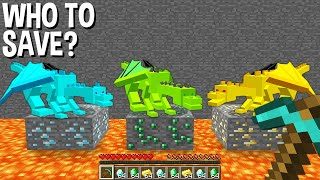 WHICH to SAVE DIAMOND DRAGON or EMERALD DRAGON or GOLD DRAGON in Minecraft ???