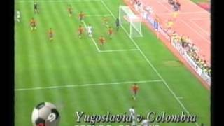 Yugoslavia vs Colombia 1990 World Cup Group Stage