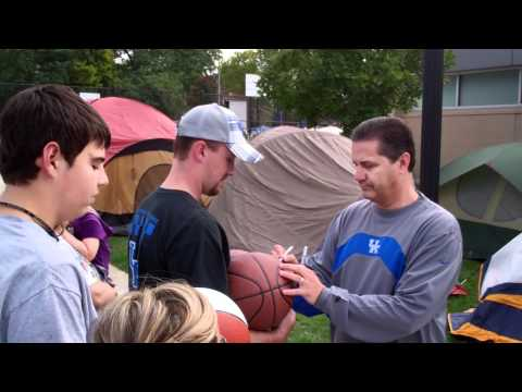 Coach Cal tours 'Big Blue Village'