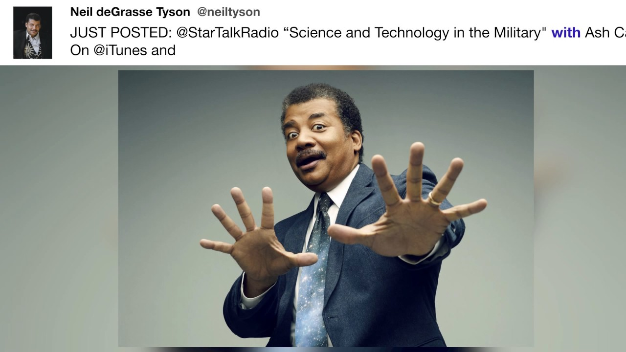 "@neiltyson - JUST POSTED: @StarTalkRadio ""Science and Technology ..."