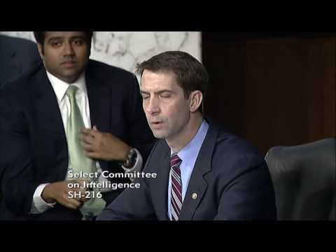 Thumbnail: June 13, 2017: Sen. Cotton's Q&A with Attorney General Sessions at Senate Intel Committee Hearing