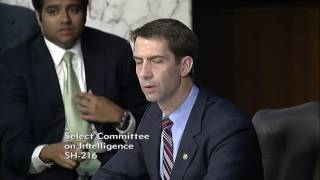 June 13, 2017: Sen. Cotton's Q&A with Attorney General Sessions at Senate Intel Committee Hearing