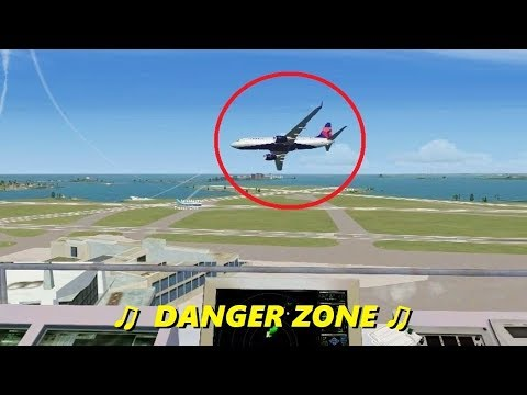 "ATC Sings ""Danger Zone"" in Flight Simulator X (Multiplayer Trolling)"