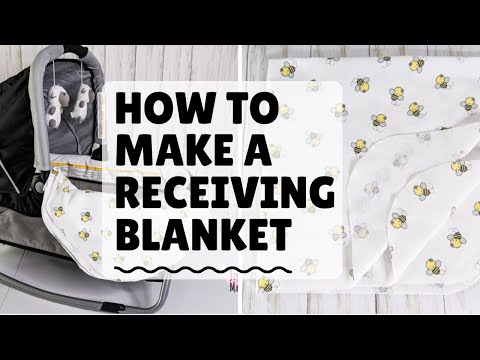 How To Make A Receiving Blanket (Free Pattern!)