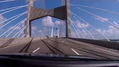 Dames Point Bridge, Jacksonville FL, HD 1080p