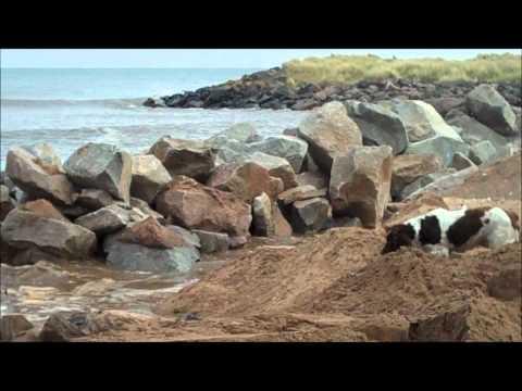 Barry Burn Rock Armour Construction - Beach Defence April 2012