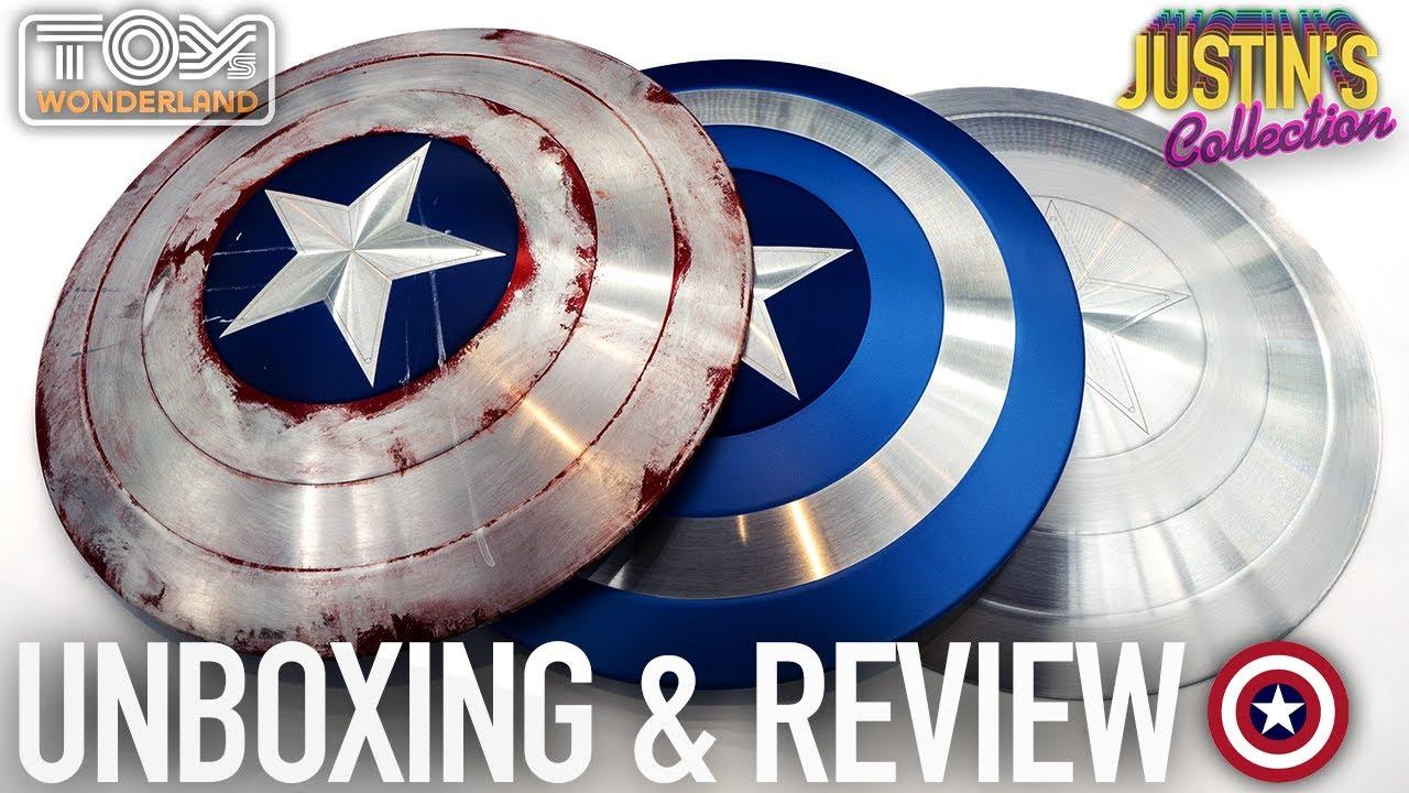 Captain America Shields Full Metal Review   Life Size Prop Replica