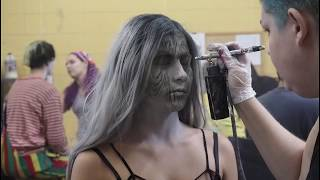 Time-lapse: Zombie makeup at Fright Fest