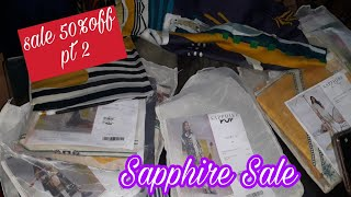 Sapphire Flat 50% off on kurtas & Unstitched  shopping  June 2020- Vlogs for all