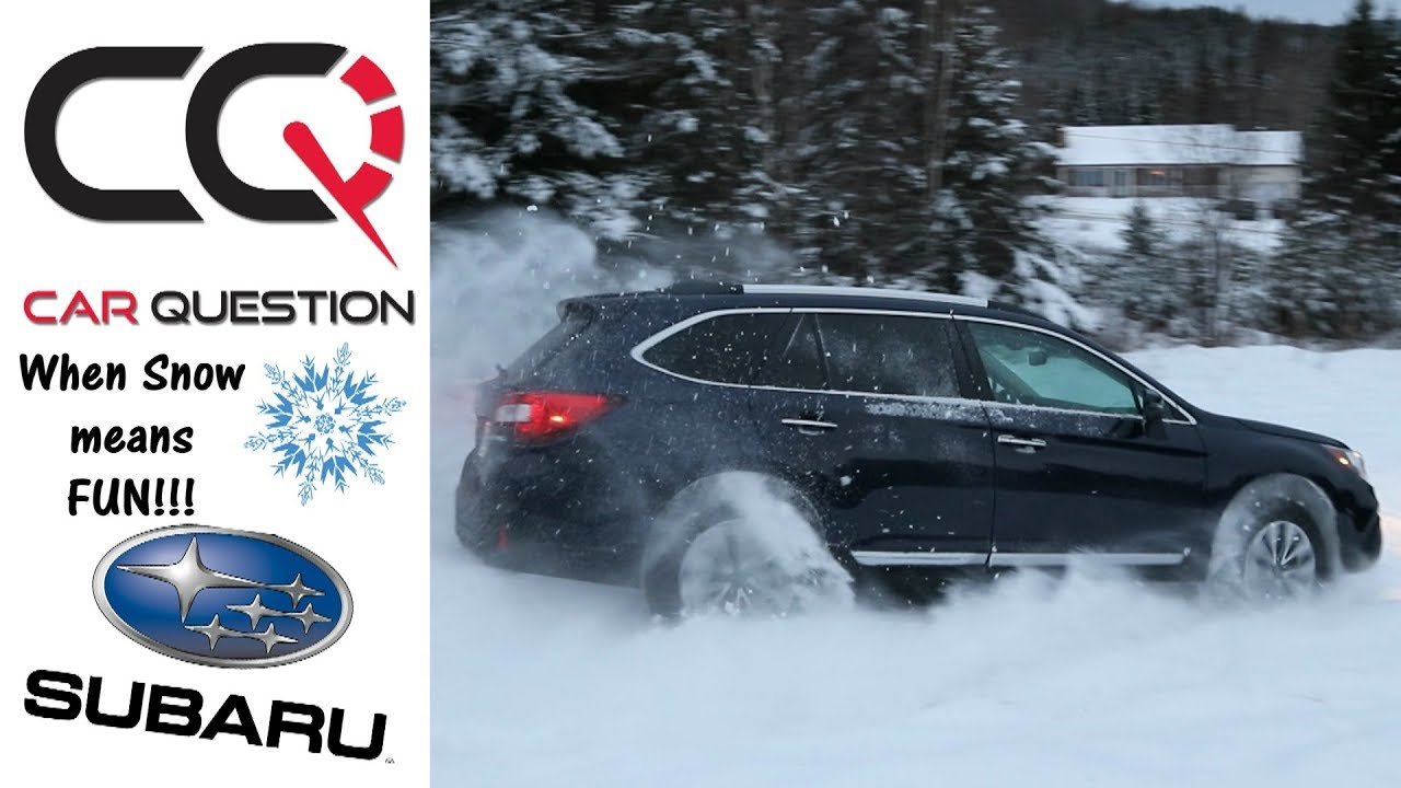 subaru outback fun   snow  ice short review part  youtube