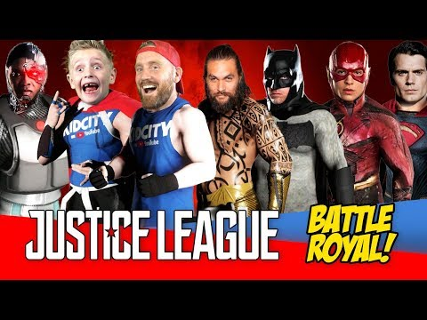 Justice League Movie Battle Royal with Batman Superman & Wonder Woman!