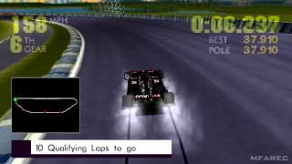 Newman Haas Racing Gameplay Single Race (PlayStation 1)