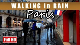 Walking in Rain in PARIS - Louvre, Rue De Rivoli, and Pont Alexandre III