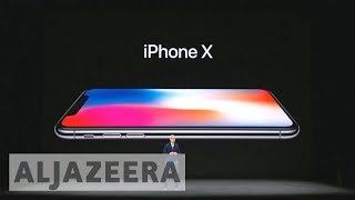 Apple launches new high-end iPhone X