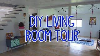 DIY Modern Barn House Living Room Tour