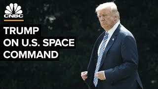 Gambar cover President Trump announces launch of US Space Command – 08/29/2019