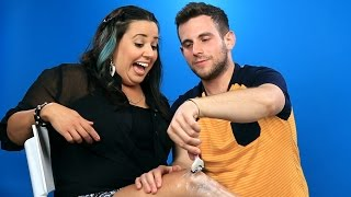 Boyfriends Shave Their Girlfriends' Legs