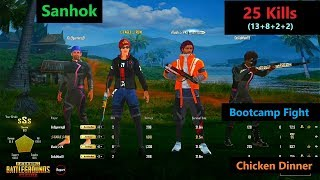 "[Hindi] PUBG Mobile | ""25 Kills"" Amazing Bootcamp Fight In Sanhok Map"