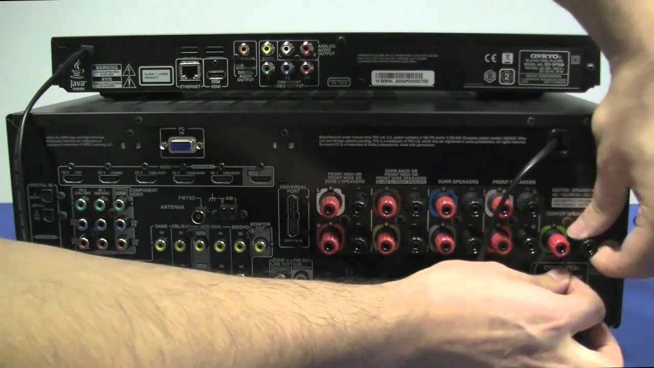 Av Receiver Wiring Diagram 12n Trailer Plug Onkyo Tx Sr608 Setup Part1 Avr Home Cinema Youtube