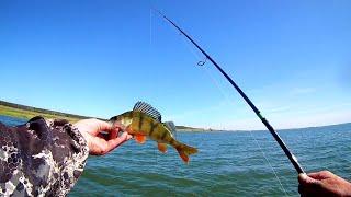 Ловля окуня на спиннинг Озеро Сунгуль Очень уловистая снасть на окуня рыбалка в шторм