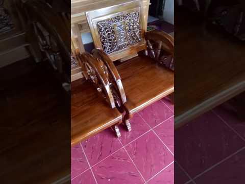 Kursi teras roda motif ukir aceh