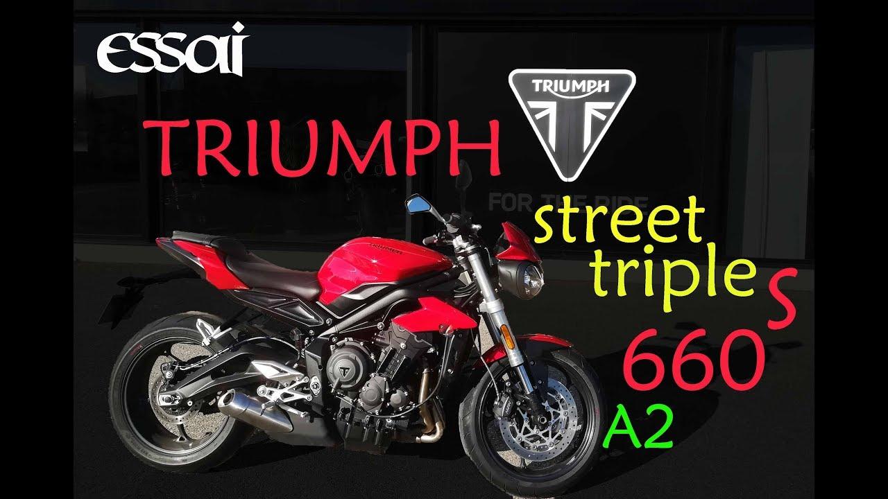 fabike essai triumph street triple s 660 a2 le top youtube. Black Bedroom Furniture Sets. Home Design Ideas