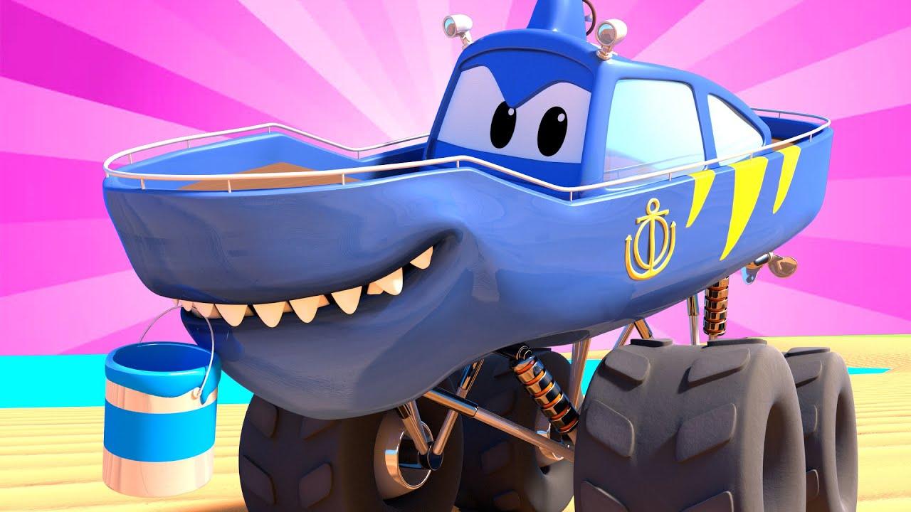 Monster Truck La Semaine Du Requin L Artiste Monster Town Dessin Anime Pour Enfants Youtube
