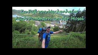 Zu Fuß nach Pommern an der Mosel mit Übernachtung am Laacher See