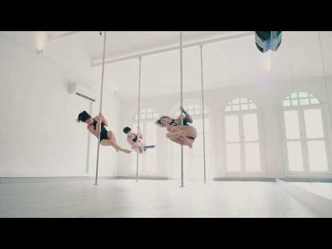 Contemporary Pole with Amandine Philippe at Milan Pole Dance Studio Singapore