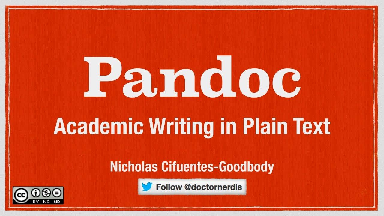 Using Pandoc