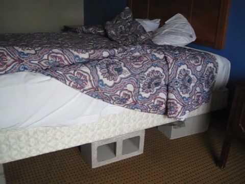 Bike Across USA Day 32 Cinder Blocks Under My Motel Bed