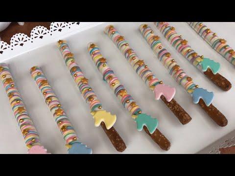 Unicorn Themed Pretzel Sticks
