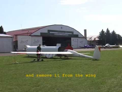 One Man Rigging System In Use, Cirrus Glider Assembly, IMI-Gliding Equipment