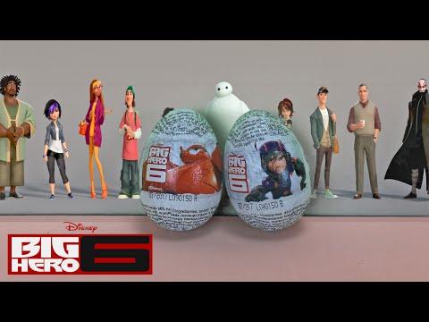 Huevos sorpresa de Big hero 6   Huevos sorpresa de los  Grandes Héroes de la película de Disney.