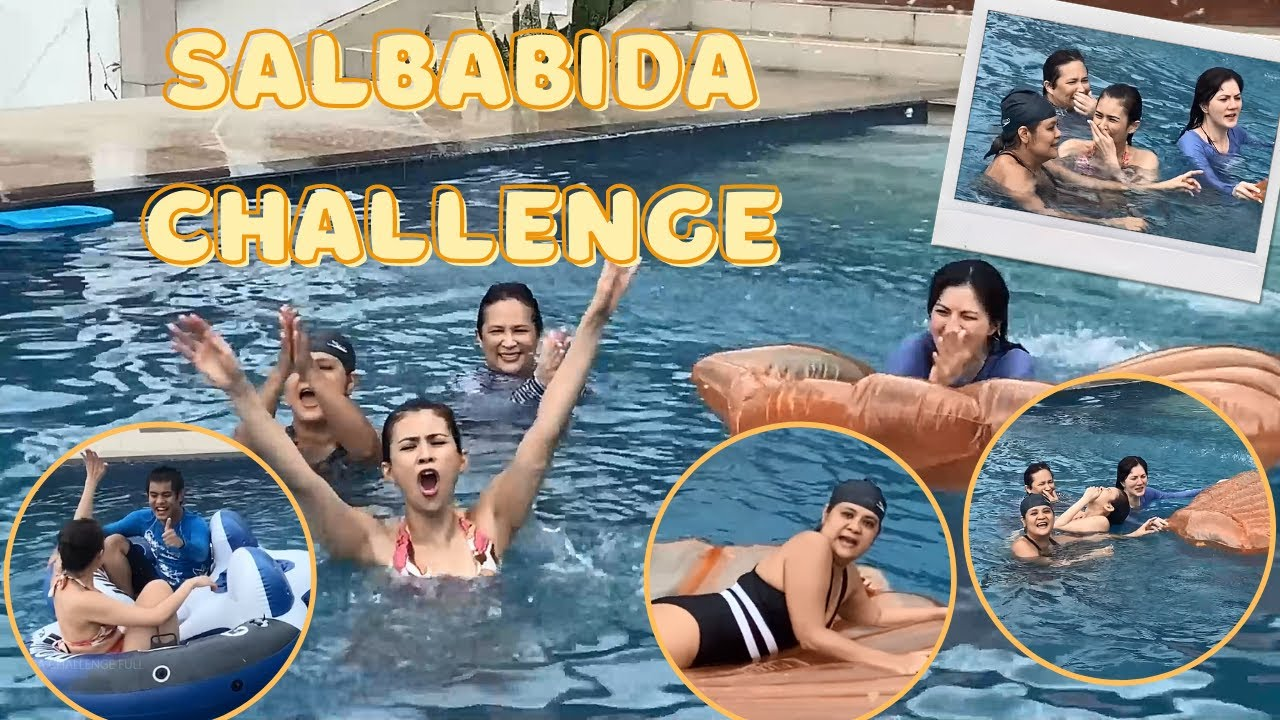 Salbabida Challenge with Ninangs Gelli, Carmina and Janice Sexy!  CANDY AND QUENTIN OUR SPECIAL LOVE