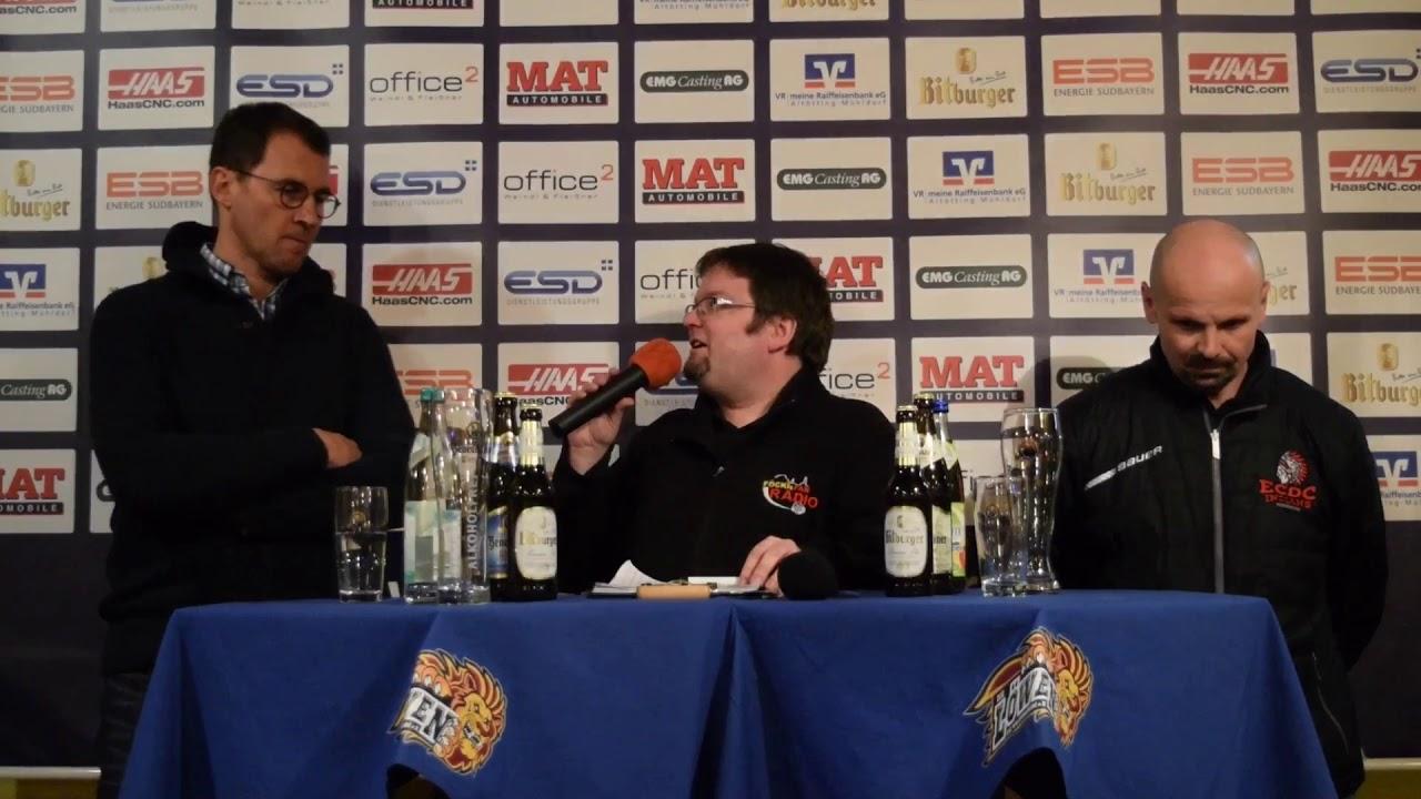 Pressekonferenz Ehc Waldkraiburg Ecdc Memmingen Youtube