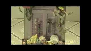 Stickpins With Shabby Chic Window Shutters