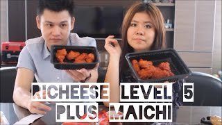 richeese challenge fire wings lvl 5 saus bbq level 5 maicih lvl 10