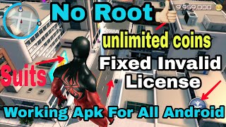 Download Amazing Spider Man 2   Unlimited Coins   fix Invalid License   For lolipop Android Device
