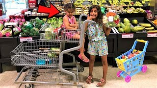 pretend play shopping