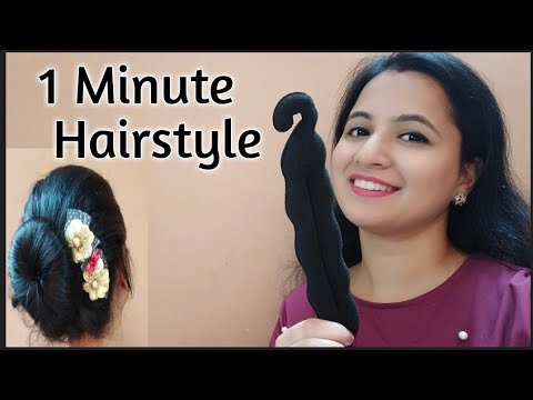1 Minute Hairstyle. party hairstyle in 1 minute. hairstyle for short hairs. thumbnail