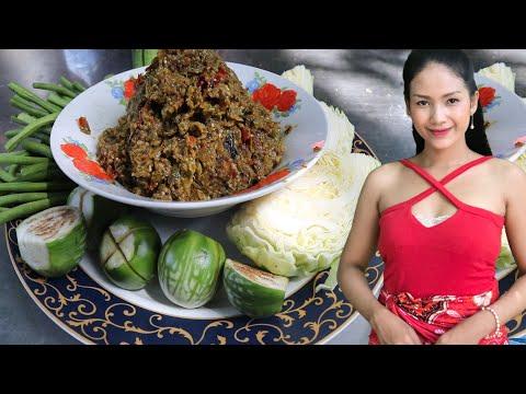 How To Prepare Dried Catfish Veggies Salad Bok-Kontui-hes Battambang | Thyda Coo