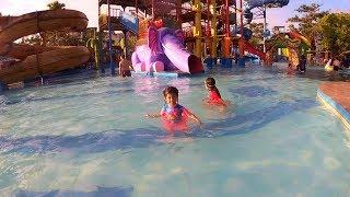 Hana Belajar Berenang & Main Air di Waterpark Balikpapan🏊 Swimming Pool for Kids Waterboom